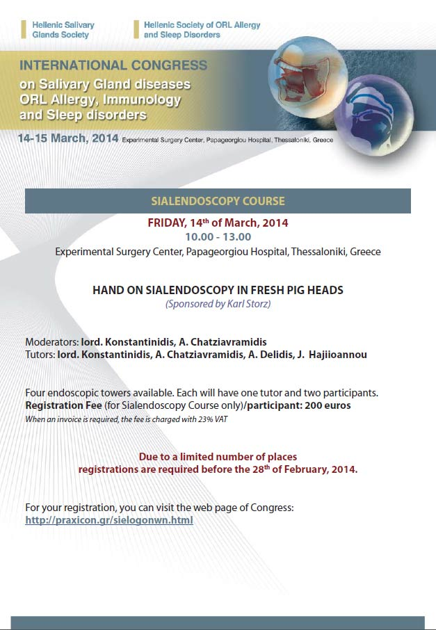 Sialendoscopy course